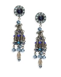 Catherine Stein | Blue Beaded Chandelier Earrings | Lyst