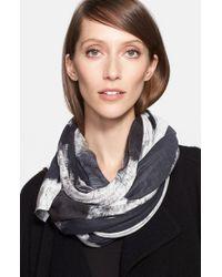Donna Karan - Gray Print Jersey Scarf - Lyst