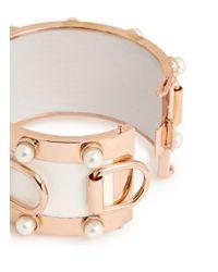 Eddie Borgo | Metallic Pearl D-ring Wide Cuff | Lyst