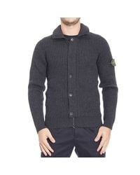 Stone Island | Gray Down Jacket for Men | Lyst