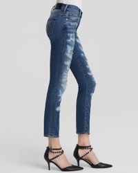 True Religion - Blue Jeans - Cora Mid Rise Straight Crop In Fremont Ave - Lyst