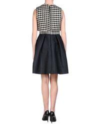 Dior - Natural Sleeveless Silk Short Dress - Lyst
