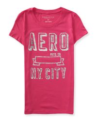 Aéropostale | Pink Aero Banner Graphic T | Lyst