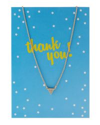 Lydell NYC | Metallic Pavé Triangle Pendant Necklace W/ Statement Card | Lyst