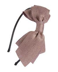 Cara - Metallic Bow Headband - Purple - Lyst