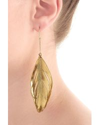 Aurelie Bidermann | Metallic Aurélie Bidermann Fine Jewelry 18kt Yellow Gold Feather Earrings | Lyst