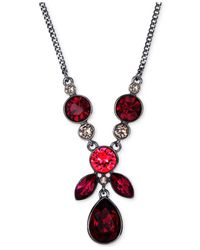 Givenchy - Light Hematite-Tone Red Stone Y Necklace - Lyst