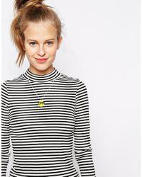 Tatty Devine - Yellow Glasses Emoji Pendant Necklace - Lyst