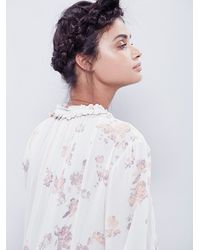 Free People | White Clover Field Printed Tunic | Lyst