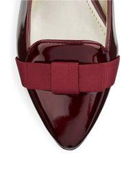 Anne Klein | Purple Kyrena Patent Leather Flats | Lyst