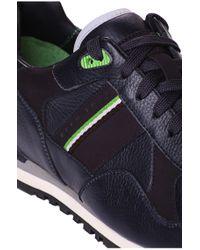 BOSS Green | Blue 'runcool Full' | Leather Reflective Sneakers for Men | Lyst