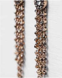 Zara | Metallic Long Jewelled Earrings | Lyst
