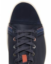 Paul Smith Blue Leather Vestri Trainers for men