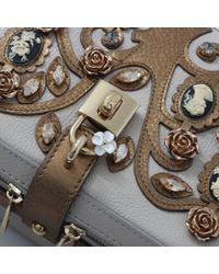 Dolce & Gabbana - Gray Cameo Box Bag - Lyst