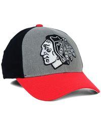 Reebok - Gray Chicago Blackhawks Tnt Flex Cap for Men - Lyst
