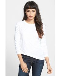 Rag & Bone | White Long Sleeve Burnout Tee | Lyst