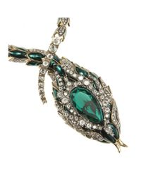 Roberto Cavalli - Metallic Crystal-embellished Necklace - Lyst