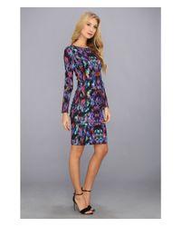 Nicole Miller - Multicolor Aurora Jersey Dress - Lyst