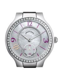 Philip Stein | Metallic Small Round Diamond & Mother-of-pearl Watch Head | Lyst