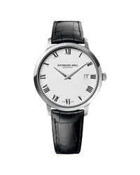 Raymond Weil Black 5588-stc-00300 Men's Toccata Leather Strap Watch for men