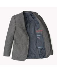 Tommy Hilfiger   Gray Wool Blend Fitted Blazer for Men   Lyst
