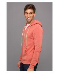 Alternative Apparel Pink Rocky Zip Hoodie for men