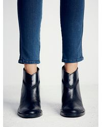 Free People - Black Lonely Mountain Ankle Boo - Lyst