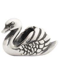 Trollbeads | Metallic Swan Sterling Silver Charm | Lyst
