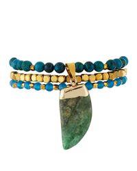 Panacea | Multicolor Three-row Quartz Pendant Bracelet | Lyst