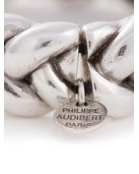 Philippe Audibert - Metallic Chunky Braided Bracelet - Lyst