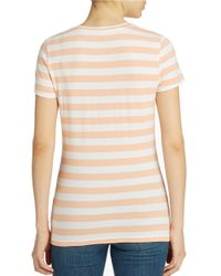 Lord & Taylor | Pink Plus Striped Tee | Lyst