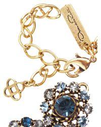 Oscar de la Renta | Blue Jeweled Necklace | Lyst