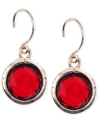 Anne Klein - Red Gold-tone Siam Drop Earrings - Lyst