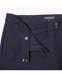 Tommy Hilfiger | Blue Cotton Modal Ankle Pant | Lyst