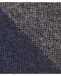 Bottega Veneta - Blue Navy Dark Grey Wool Silk Tie for Men - Lyst