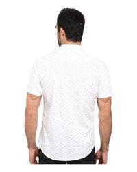 7 Diamonds   White Rising Tide Short Sleeve Shirt for Men   Lyst