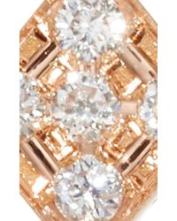 Diane Kordas | Metallic Rose Gold And Diamond Single Chevron Ear Jacket | Lyst