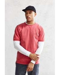 Stussy - Red Stock Short-sleeve Sweatshirt for Men - Lyst