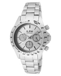 A_line - Metallic Amore Chronograph Aluminum Silver-tone Dial Aluminum - Lyst