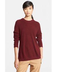 Rag & Bone Red 'valentina' Knit Cashmere Tunic