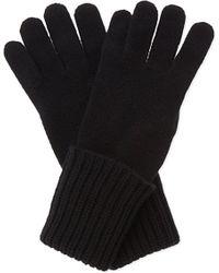 Johnstons | Black Ribbed Cashmere Gloves | Lyst