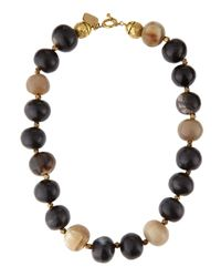 Ashley Pittman | Metallic Kubwa Mpira Mixed Horn Beaded Necklace | Lyst
