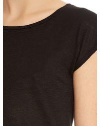 Acne Studios - Black Narda Linen T-shirt - Lyst