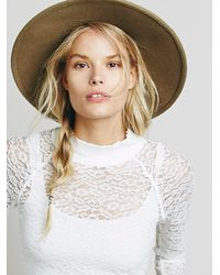 Free People | White Mock Neck Lace Layering Top | Lyst