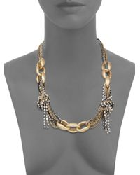 Saks Fifth Avenue - Metallic Multichain Collar Necklace - Lyst