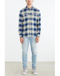 Stapleford - Blue Kettle Plaid Flannel Button-down Shirt for Men - Lyst