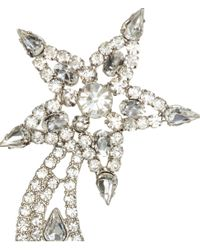 H&M - Metallic Earrings With Sparkly Stones - Lyst