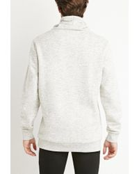 Forever 21 | Natural Heathered Funnel Neck Sweatshirt for Men | Lyst