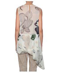 Erika Cavallini Semi Couture - Multicolor Darby Silk Top - Lyst