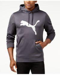 PUMA - Gray Men's Metallic Dynamic Fleece Hoodie for Men - Lyst